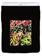 Peppers By The Bushel Duvet Cover