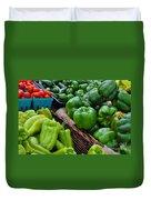 Peppers From The Farm Nj Duvet Cover