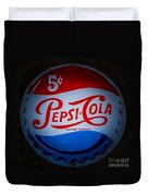 Pepsi Cap Sign Duvet Cover