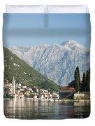 Perast In Kotor Bay Montenegro Duvet Cover