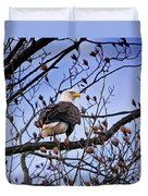 Perched Bald Eagle Duvet Cover