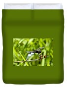 Perched Widow Skimmer Duvet Cover