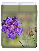 Perennial Geranium Duvet Cover