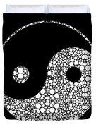 Perfect Balance 2 - Yin And Yang Stone Rock'd Art By Sharon Cummings Duvet Cover