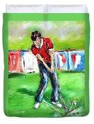 Ideal Gift For Golfing Husband Duvet Cover