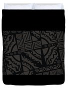 Perfect Imperfections II - Charcoal Infusion Duvet Cover