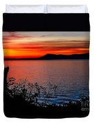 Perfect Marine Sunset Duvet Cover