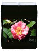 Perfect Pink Camellia Duvet Cover