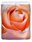 Perfection In A Peach Rose Duvet Cover
