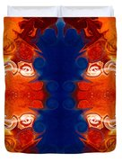 Perfectly Balanced Philosophies Abstract Pattern Art By Omaste Witkowski Duvet Cover