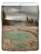 Perforated Pool In West Thumb Geyser Basin Duvet Cover