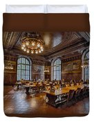 Periodical Room At The New York Public Library Duvet Cover