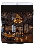 Periodicals Room New York Public Library Duvet Cover