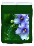 Periwinkle African Violets Duvet Cover