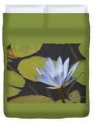 Periwinkle Lily Duvet Cover