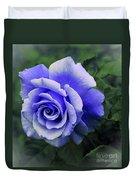 Periwinkle Rose Duvet Cover