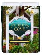 Perkins Cove Sign Duvet Cover