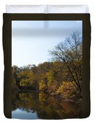 Perkiomen Creek In Autumn Duvet Cover