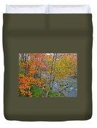 Perkiomen Creek - Perkiomenville Pa - Autumn Foliage Duvet Cover