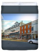 Perry House At Washington Square In Newport Rhode Island Duvet Cover