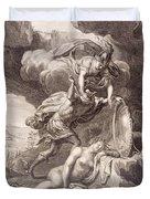 Perseus Cuts Off Medusa's Head Duvet Cover by Bernard Picart