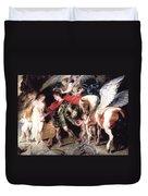 Perseus Liberating Andromeda Duvet Cover