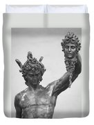 Perseus With Head Of Medusa Duvet Cover