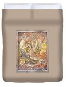 Persian Lady Playing Chang Duvet Cover