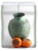 Persimmon With Vase Duvet Cover