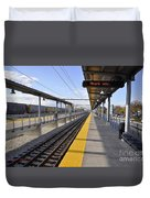 Perspective From The Series The Elements And Principles Of Art-- One Point Rail Duvet Cover