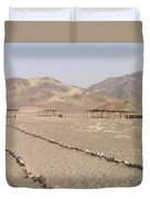 Peru Nazca Bones Site Duvet Cover