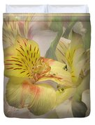 Peruvian Lily Framed Duvet Cover