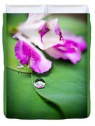Peruvian Lily Raindrop Duvet Cover