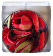 Petals In Vase  Duvet Cover