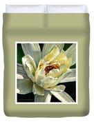Petals Of Ivory Duvet Cover