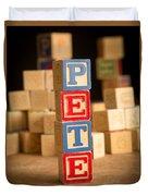 Pete - Alphabet Blocks Duvet Cover