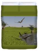 Peteinosaurus Reptiles On The Shore Duvet Cover
