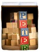 Peter - Alphabet Blocks Duvet Cover