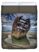 Peter Iredale At Dawn Duvet Cover
