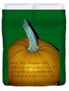 Peter Peter Pumpkin Eater Duvet Cover