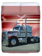 Peterbilt With Burgundy Abstract Duvet Cover