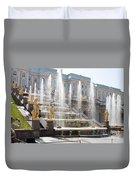 Peterhof Palace Fountains Duvet Cover