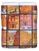 Petra Alive In Petra Jordan Duvet Cover
