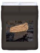 Petrified Wood On A Pedestal Duvet Cover