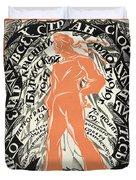 Petrograd Red Seventh November Revolutionary Poster Depicting A Russian Sailor Duvet Cover