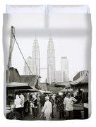 Petronas Over Kampung Baru Duvet Cover
