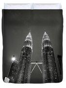Petronas Towers At Night Duvet Cover