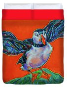 Petty Harbour Puffin Duvet Cover
