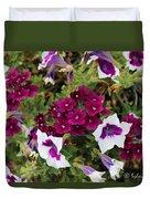 Petunias And Verbena I Duvet Cover