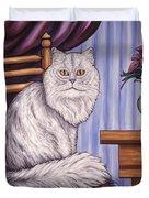 Pewter The Cat Duvet Cover
